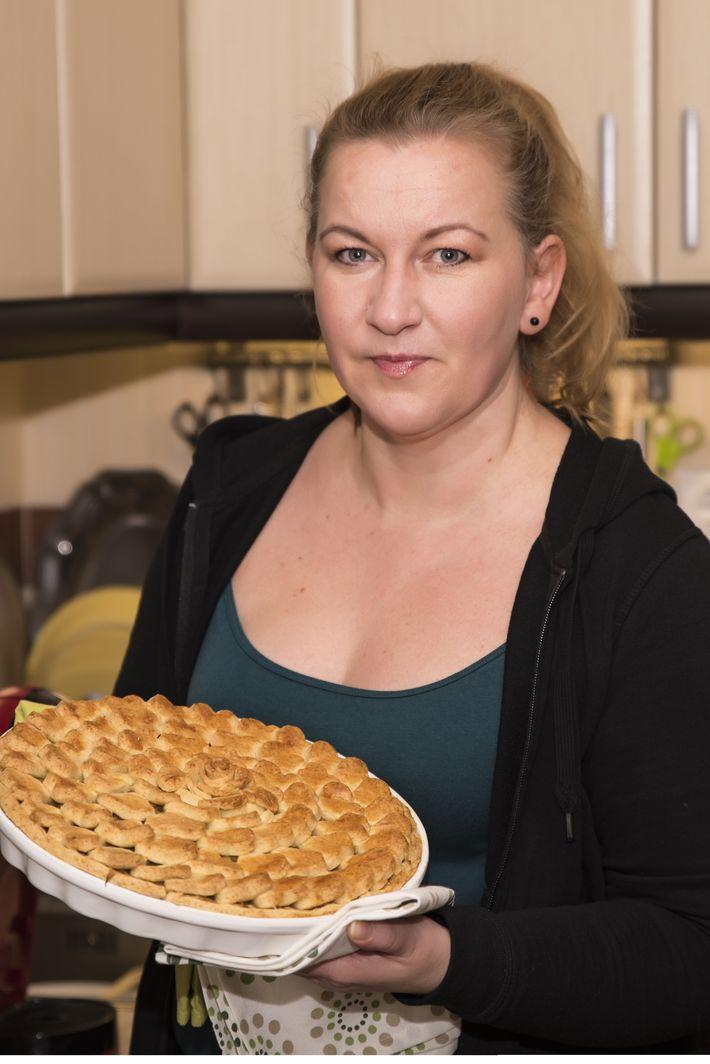 Anya a konyhában